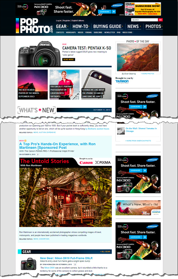Go to PopPhoto.com''s article A Top Pro's Hands-On Experience, with Ron Martinsen