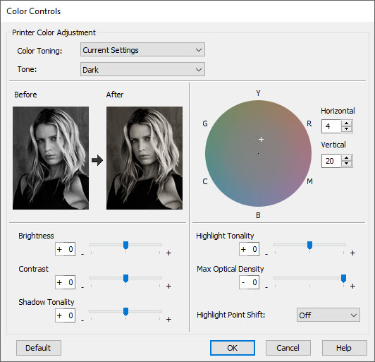 Color Controls for ABW on Windows (via Advanced Button)