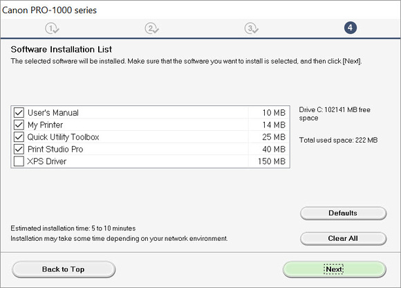 PRO-1000 Additional Software Options