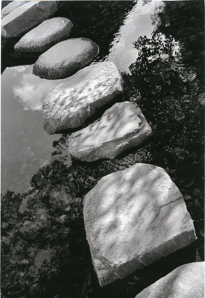 Hahnemühle Rice Paper High Resolution scan of Zen Pathway (c) Ron Martinsen - ALL RIGHTS RESERVED