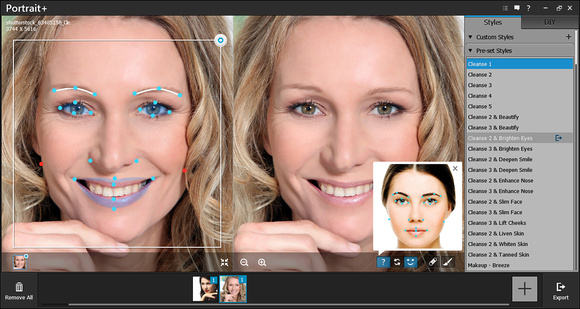 Above average facial part recognition and a wealth of presets are some of the strengths