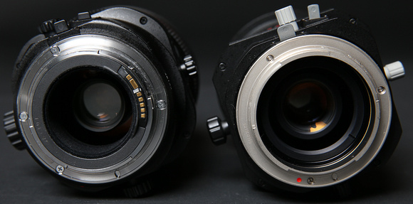 The Rokinon lacks contact points, so the aperture must be set on the lens instead of through the camera