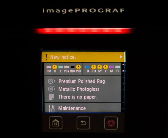 Ron Martinsen Photography: Canon PRO-2000 &emdash; PRO-2000_ControlPanel