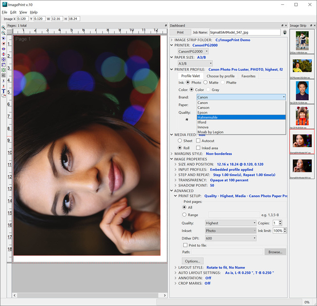 ImagePrint 10.0.30 with support of multiple paper brands with more on the way
