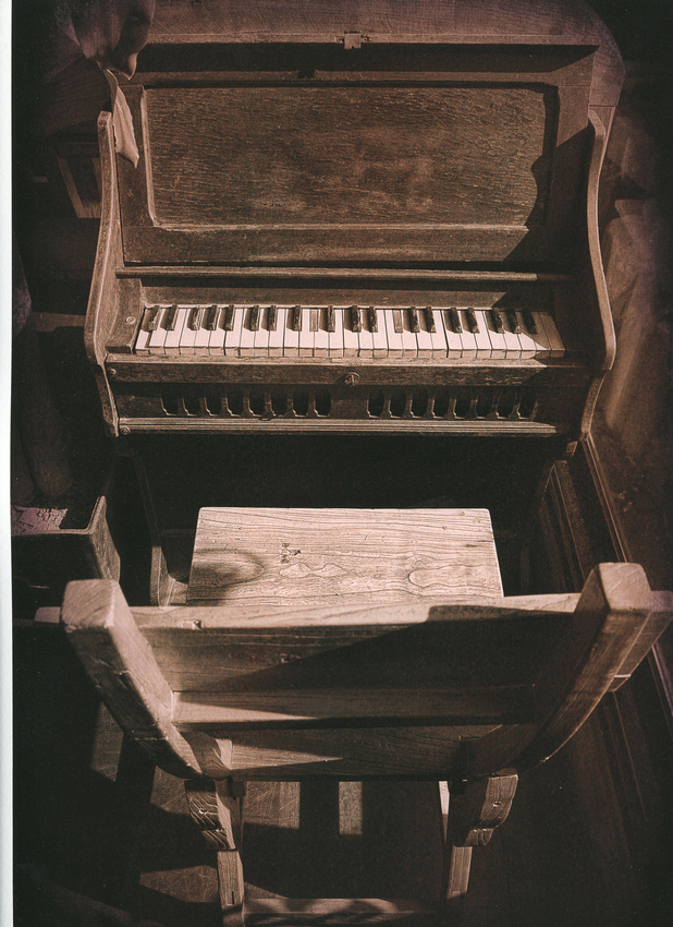 Korean Piano - German Etching - Copyright Ron Martinsen - ALL RIGHTS RESERVED